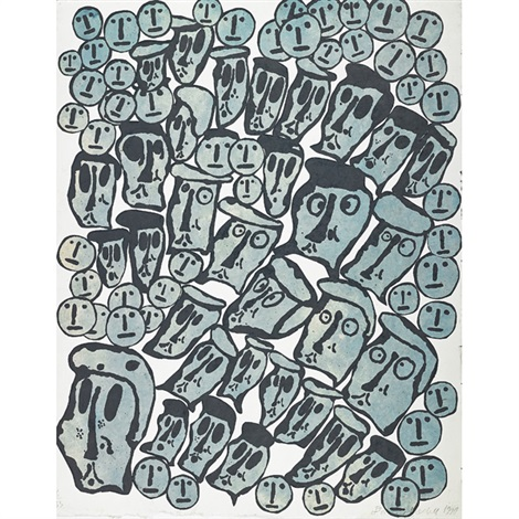 crowds portfolio w5 works by donald baechler