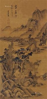 山中雨霁 镜片 水墨绢本 by dong qichang