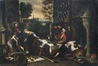 christus im hause von maria und martha by jacopo dal ponte and francesco bassano