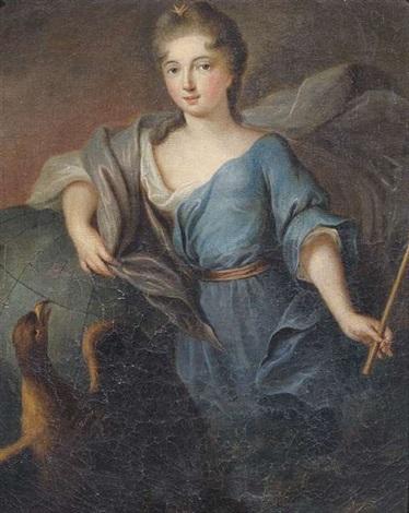 bildnis einer jungen dame als juno mit szepter und weltkugel by pierre gobert