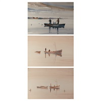 fishermen on a quiet morning : three by frederick soldwedel