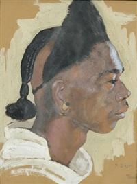 profilporträt eines jungen madagassen by paul-léon bleger