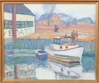 boats at the dock by george a. renouard