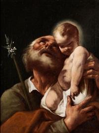 der heilige josef mit dem jesuskind by anonymous-italian