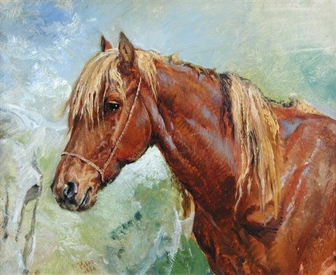 study of a chestnut mare by frank paton
