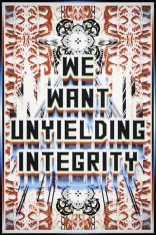 we want unyielding integrity by mark titchner