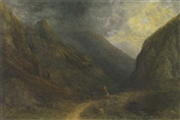 in the pass of llanberis, wales by sydney herbert