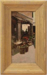 flower market by theodore robinson
