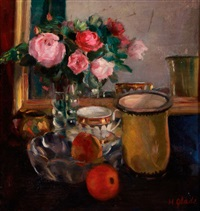 still life with roses by hildegard glade