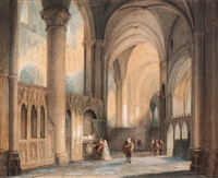 canterbury cathedral by jan baptiste tetar van elven