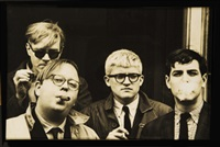 andy warhol, henry geldzahler, david hockney, jeff goodman by dennis hopper