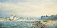upnor castle on the medway, kent by edward duncan