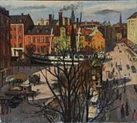 street scene from copenhagen by otto nielsen