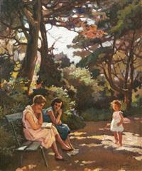 donne e bimba nel parco by cafiero filipelli