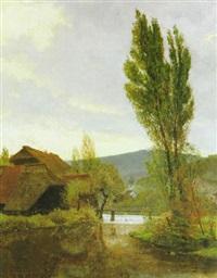 schwarzwaldtal in der abendsonne by manfred lindemann-frommel