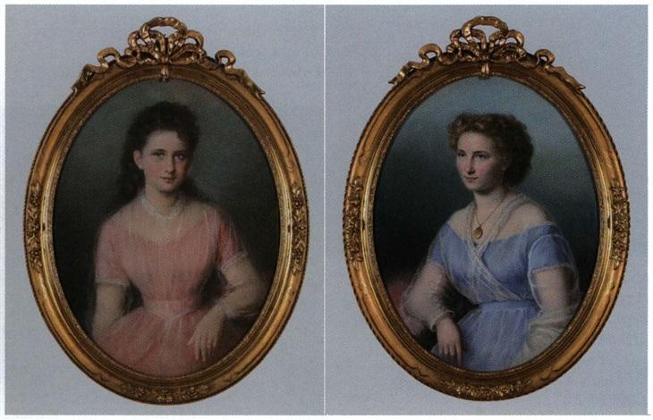 portrait eines mädchens mit percollier portrait einer jungen dame mit medaillonanhänger smaller pair by anthonie boubong