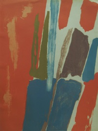 untitled abstract composition by john latham