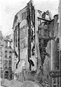 baustelle mit abgerissenem haus in paris by bruno hesse