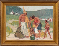 family at beach by george a. renouard