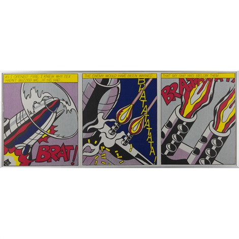 as i opened fire 3 works by roy lichtenstein