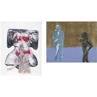 venus and artemis and performance (+ another, smaller; 2 works) by nancy spero