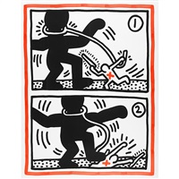 untitled (free south africa #3) by keith haring
