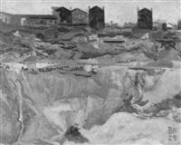 sandgrube vor häusern bei fontenay-aux-roses by bruno hesse