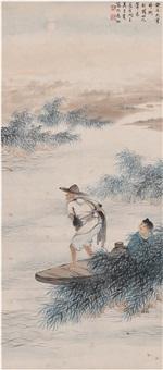 渔翁图 by wu qingxia