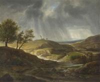 sturmbewegte landschaft by friedrich philip reinhold