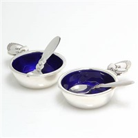 salt cellars and spoons cactus (pair) by gundorph albertus
