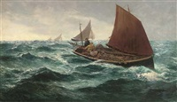 returning home with the catch, a stiff breeze by c. davidson