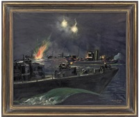 range 60 yards - s.g.bs. against trawlers off cap d'antifer, 27th september by peter scott
