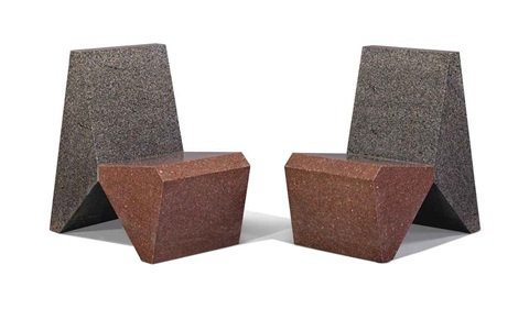 granite chairs pair by scott burton