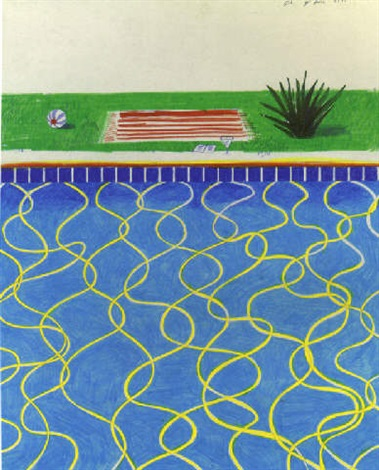 Drawing Of A Pool And Towel By David Hockney On Artnet