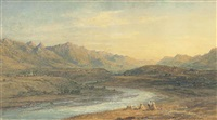 the river sarine, fribourg, switzerland by thomas danby