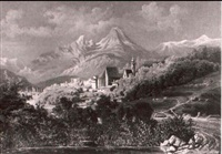 blick auf berchtesgaden by carl von zellenberg