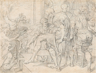 vielfigurige szene mit römischen soldaten by theodor van thulden