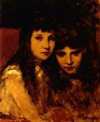 portrait zweier schwestern by paula freiin von wachter