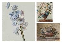 branche de fleurs bleues (+ 3 others; 4 works) by gérard van spaendonck