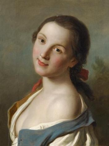 porträt einer jungen frau by pietro antonio rotari