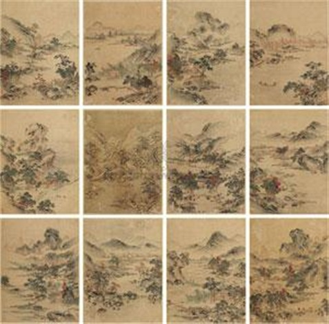 山水 album w12 works by qiu ying