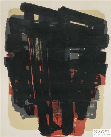 ohne titel by pierre soulages