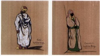 homme de rabat (+ femme de marrakech; 2 works) by mathilde arbey