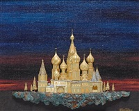 st. basil's and the kremlin by william tolliday