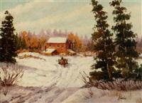 snowy landscape by donald blagge barton