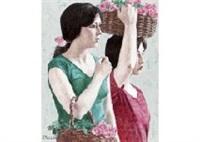 flower basket by junji yoshii