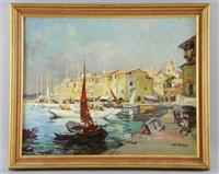 the port of st. tropez by leo fontan