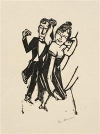 kleines tanzendes paar by max beckmann