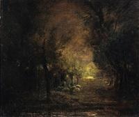 pascolo ai margini del bosco by antonio fontanesi