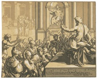 die verehrung jupiters (after parmigianino) (from raccolta di varie stampe a chiaroscuro) by antonio maria zanetti